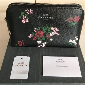 NEW COACH Cosmetic Case - Floral Print